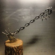 Zombie Slayer Axe with Welded Chain Handle . $200.00, via Etsy.