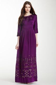 Aileen Cutout Silk Blend Maxi Dress