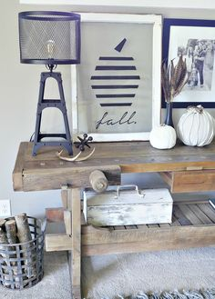 Modern Fall Sign - Take an old window and use glass paint to create a modern pumpkin design, Click for all the details