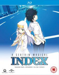 A Certain Magical Index: Complete Season 1 (Blu-ray/DVD Combo) Sci Fi Anime, Anime Nerd, The Garden Of Words, A Certain Scientific Railgun, A Certain Magical Index, Anime Reviews, Thing 1, Dvd Blu Ray