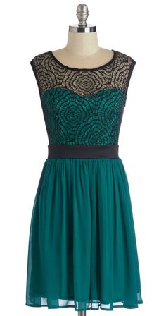 Starlet's Web Dress in Jade