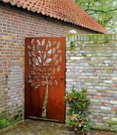 Corten Steel Gate Custom Made By A+Concepts