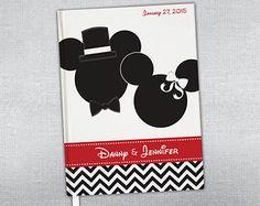 Disney Wedding Guest Book. Disney honeymoon journal. Personalized journal.