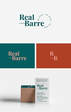 RealBarre is a community about falling in love with and looking after yourself with strong emphasis not being an intimidating space to come in to. Self Branding, Cafe Branding, Branding Design, Corporate Branding, Letterpress Business Cards, Business Logo, Business Card Design, Personal Logo, Personal Branding