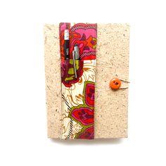 Pencil Pocket with Papyrus Journal made by artisans in Kenya Gender Equity, Fair Trade, Kenya, Stationary, Artisan, Pencil, Journal, Pocket, Gifts