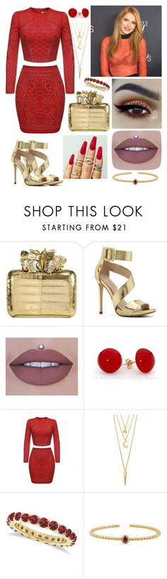 """""""Ember - Party"""" by gracielovesyou01 ❤ liked on Polyvore featuring Nancy Gonzalez, ALDO, tarte, WALL, BERRICLE, Allurez and Lord & Taylor"""