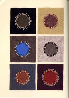 Embroidered and appliqued circles from a Japanese craft book by Naoko Shimoda