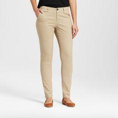 Women's Skinny Chino Pant - Merona Vintage Khaki 18