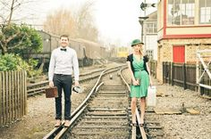 AndreaEllison Photography | A Vintage Railway Engagement | Whimsical Wonderland Weddings
