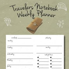Midori Weekly Planner Insert, To do list insert, Fauxdori Printable, Travelers Notebook Insert,Leather Notebook Refill, Foxy dori, PDF by BrookeEvahPrints on Etsy