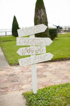 Wedding directional