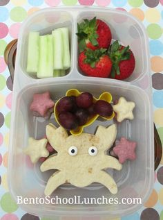 Crab shaped tortilla bento