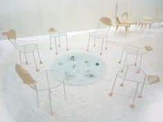 the installation, 'picnic' by japanese designer and architect junya ishigami