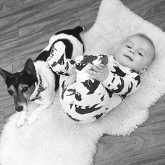 These two melt my heart all day everyday!! #baby #jackrussell #family #mansbestfriend #boysbestfriend