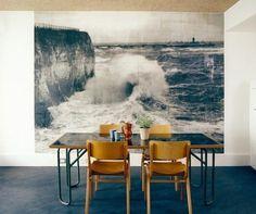 dining room ocean/wave photo mural