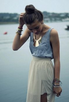 Maxi skirt -I would need a bigger top but I could see myself rocking this!!-