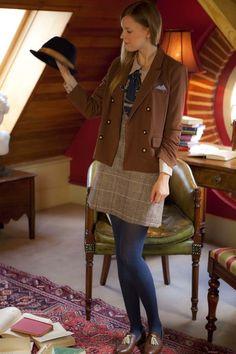 Miss Patina British Dandy Girl Blazer (Brown) (1)