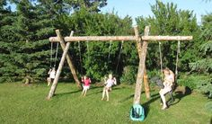 rustic+swings | ... Children's Frontier Fort and the rustic swings with a tire horse
