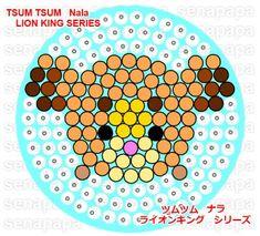 Nala The Lion King Tsum Tsum Perler Bead Pattern