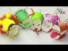 Diy And Crafts, Crafts For Kids, Puppet Crafts, Craft Videos, Projects For Kids, Puppets, Art For Kids, Origami, Recycling