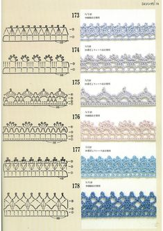 Pattern diagram for pretty crochet edging. Neat idea for dish-cloths, tea-towels, coasters and + Crochet Free Edging Patterns You Should KnowCrochet Beautiful Boarderscould Be PutAdd Borders to your blankets and afghans!Crochet Symbols a Crochet Edging Tutorial, Crochet Border Patterns, Crochet Lace Edging, Crochet Diagram, Crochet Chart, Crochet Trim, Stitch Patterns, Filet Crochet, Crochet Edgings
