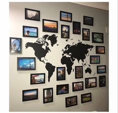 travel gallery wall ideas - travel gallery wall , travel gallery wall ideas , travel gallery wall with map , travel gallery wall decor , travel gallery wall ideas with map Collage Mural, Photo Wall Collage, Collage Ideas, Collage Des Photos, Collage Pictures, Casa Rock, Family Pictures On Wall, Hang Pictures, Bedroom Decor