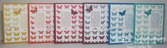 A Collection of Butterfly Collection Ombré Cards