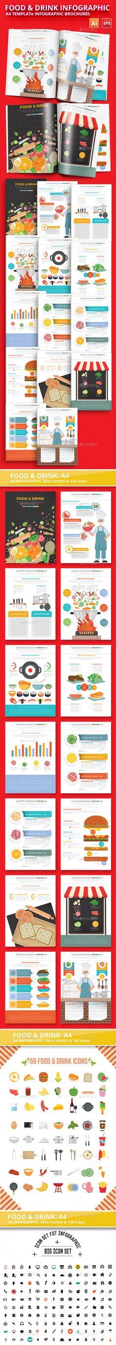 Food & Drink  infographic Design Template Vector EPS, AI Illustrator. Download here: https://graphicriver.net/item/food-drink-infographic-template-design/17676877?ref=ksioks