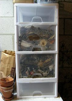 Drawer composter.  PERFECT!