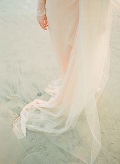 Wedding dress in the sand. What could be more perfect? #destinationwedding