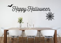 Happy Halloween Wall Decal  Etsy listing at https://www.etsy.com/listing/247109244/halloween-decal-halloween-wall-decal