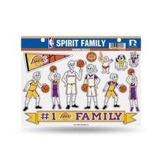 Los Angeles Lakers Lakers Family Sticker, Multicolor