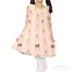 http://www.wunderwelt.jp/products/detail1878.html ------------------------------------------------------------------- Petit Patisserie dress Brand: Angelic pretty ¥ 27,990 tax I Add to cart - Product detail - No notation size Shoulder width: 37cm Length: 77cm Width: 49cm Sleeve length: 60cm Polyester: 100% Shearing: None Rank B: dirt-free used clothes Used Lolita clothing shop Wunderwelt in Japan
