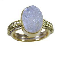 adorable Druzy Gold Plated multi Ring suppiler L-1in US 5678