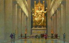 Posąg Zeusa Olimpijskiego Fidiasz 13m