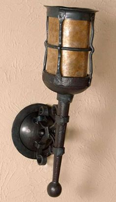 Custom Crown Torch Sconce Medieval Castle Inspired Wall
