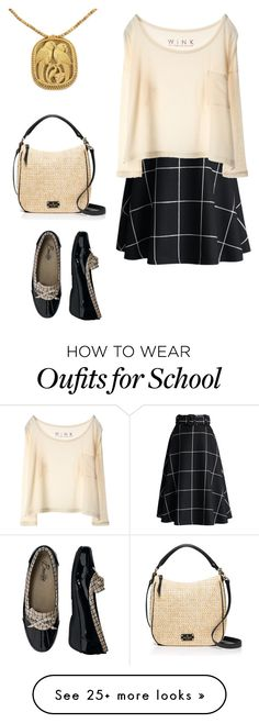 """Plaid School Days"" by amanda-o-twomey on Polyvore featuring Chicwish, Kate Spade, NOVICA and Beacon"