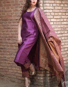 Simple dress with Heavy dupatta Simple dress with heavy dupatta, suits with heavy work dupatta, trendy plain suit with shawl fashion, Pakistani latest shawls dresses designs, Plain chiffon dupatta designs Salwar Designs, Silk Kurti Designs, Kurta Designs Women, Kurti Designs Party Wear, Brocade Blouse Designs, Stylish Dress Designs, Designs For Dresses, Indian Fashion Dresses, Dress Indian Style