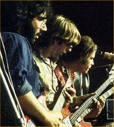 Love   Jerry Garcia, Phil Lesh and Bob Weir. If only I could go back in time! Just for a few days. :)