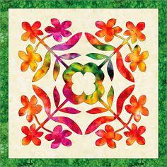 BARBARA BIERAUGEL DESIGNS: New Plumeria Hawaiian Applique pattern  xxx