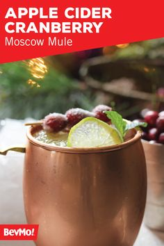 We're simply obsessed with giving our favorite cocktails a festive fall twist. And this recipe from BevMo! for Apple Cider Cranberry Moscow Mule is no exception! Grab the caramel vodka, cranberry juice, apple cider, and ginger beer to get started.
