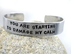 You Are Starting to Damage My Calm - Firefly Serenity Bracelet   foxwise - Jewelry on ArtFire