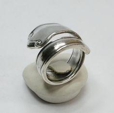 Besteckring Silberring  glänzend Ringschiene SR561 von Atelier Regina  auf DaWanda.com