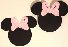 Minnie Mouse Die Cuts - 20 - Minnie Mouse Birthday - Minnie Mouse Party Decorations - Minnie Mouse Baby Shower - 6 inches from ear to ear