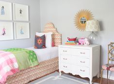 Little Green Notebook: Room Tour: Lauren Leonard Interiors - sophisticated 6-year-old's room
