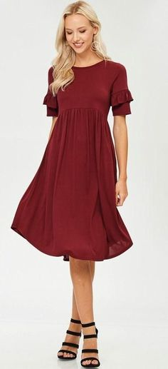 StitchFix 11/13/17 ... I love burgundy and this is cute, but i'd wear it over leggings.