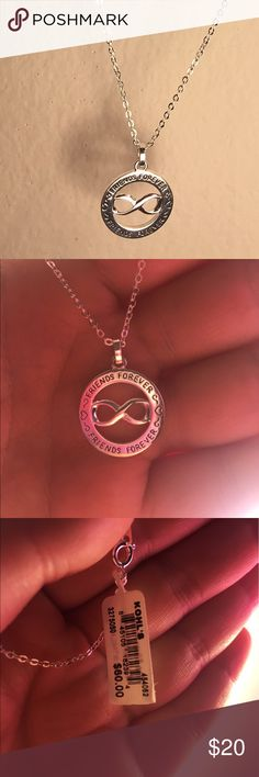 NWT : Best friend infinity necklace! NWT: friends forever necklace. This would be a great gift for your best friends birthday, Christmas or a just because! Jewelry Necklaces