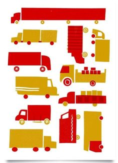 Red Lorry Yellow Lorry by Lucie Sheridan — On The Wall