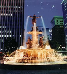 Fountain Square in downtown Cincinnati-I lived in Cincy for a year and could walk to Fountain Square from work.  The Queen City/Porkopolis will always be a special place for me.