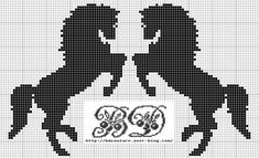 HORSES (no color chart available, just use photo/pattern chart as your… Cross Stitch Horse, Beaded Cross Stitch, Cross Stitch Animals, Cross Stitch Charts, Cross Stitch Patterns, Filet Crochet Charts, Knitting Charts, Cross Stitch Silhouette, Crochet Horse